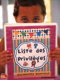 Gestion de classe: Le cartable de la liste de privilèges