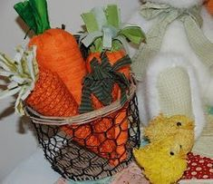 Quilted Fabric Carrots