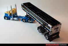Peterbilt 379 with Mac end dump trailer. : A LEGO® creation by Bricksonwheels MOC : Legos!