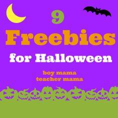 Boy Mama Teacher Mama   9 Freebies for Halloween