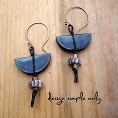 Artisan Handmade Antique Brass Earwires - 1 pair from Second Surf Studio on Storenvy