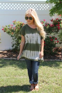 Olive On the Edge Top available at J. Lilly's Boutique or jlillysboutique.com