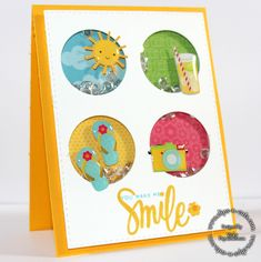 Love this card by Vicky using The June 2015 card kit by Simon Says Stamp.