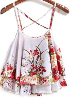 Spaghetti+Strap+Florals+White+Vest+11.83