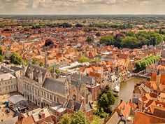 View over the medieval city of Bruges, Belgium