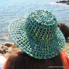 Crochet Summer Hat  Sun Hat Woman  Floppy Beach by LyubavaCrochet