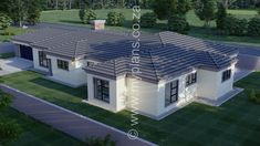 4 Bedroom House Plan - My Building Plans South Africa Tuscan House Plans, My House Plans, 4 Bedroom House Plans, My Building, Building Plans, Fancy Houses, Modern Houses, House Plans South Africa, Living Room With Fireplace