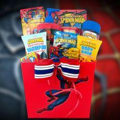 Spiderman Boys Grooming Gift Basket Birthday Get Well, Gifts for Kids Under 8 by Gift Basket 4 Kids, http://www.amazon.com/dp/B0069987EW/ref=cm_sw_r_pi_dp_NhPmsb0WSKDQP