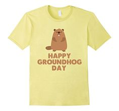 $12.99 Happy Groundhog day T Shirt Awesome Groundhog Day Tee Shirts for Men, Women and Kids