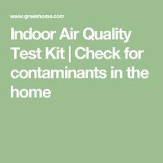 Air quality test kit | air quality testing | Pinterest