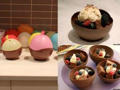 5 Brilliant Ways to Use Balloons Chocolate Bowls, Chocolate Dipped, Melting Chocolate, Melt Chocolate For Dipping, Dessert Dips, Desserts, Cake Decorating Tips, Baking Sheet, Food To Make