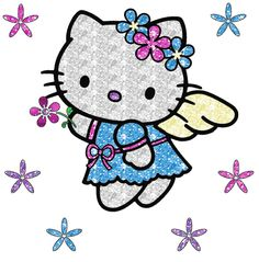hello kitty glitter pics