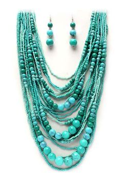 Classic Layered Turquoise Necklace | Awesome Selection of Chic Fashion Jewelry | Emma Stine Limited