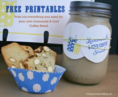 Lemonade Stand Printables @International Delight #IcedCoffeeLove Have an Iced Coffee Stand with your kids' Lemonade STand.  Free Printable Kit!