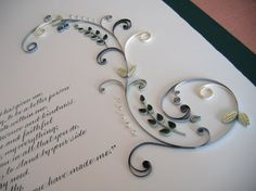 all things paper: Quilled Marriage Certificate