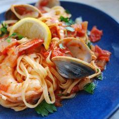 Spicy Pasta: Diablo Pasta Sauce with Clams and Shrimp