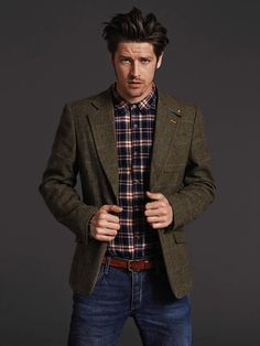 Wool tattersall and plaid.
