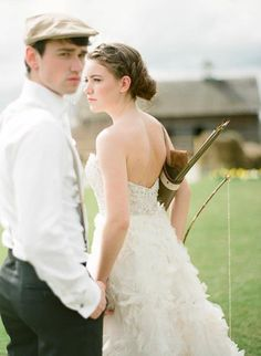 idea of the day - the hunger game wedding theme
