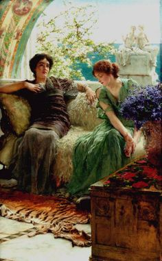 Unwelcome Confidence, Sir Lawrence Alma-Tadema