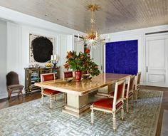 Modern Dining Room by Michael S. Smith and Ferguson