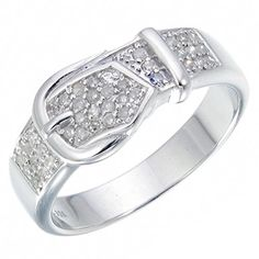 Sterling Silver Diamond Wedding Band (1/4 CT) - http://www.loveuniquerings.com/diamond-wedding-bands/sterling-silver-diamond-wedding-band-14-ct-3/