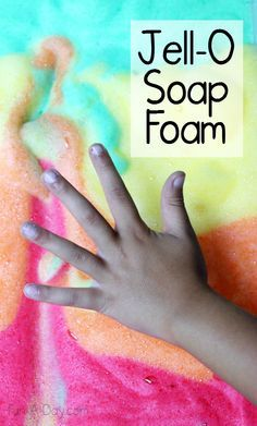 How to make Jell-O soap foam with kids