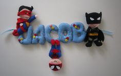 Super+heroes+sign+name+banner+by+MySweetfelt+on+Etsy,+€38.00