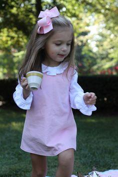 pink dress. little girl