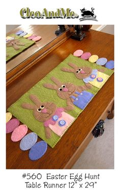 "A New Penny Rug Pattern- ""Egg Hunt"""