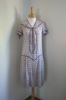 1920's Cotton House Dress- (Found on Pinterest, Previously sold on Etsy)