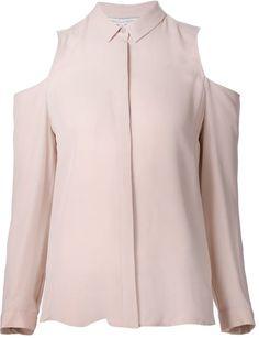 Pin for Later: Zeigt dem Winter die kalte Schulter mit diesem Frühjahrstrend  Rebecca Minkoff schulterfreies Hemd in Rosa (260 €)