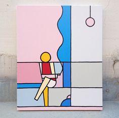 A arte abstrata e geométrica de Stephen Baker