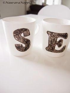 Itse tehdyt kahvimukit lahjaksi!
