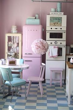 140 best retro pink kitchens images vintage kitchen retro rh pinterest com