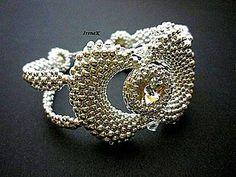 Náramky - Strieborný svadobný náramok - 4275852_