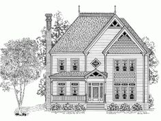 Eplans Victorian House Plan - Four Bedroom Victorian Eclectic - 2454 Square Feet and 4 Bedrooms from Eplans - House Plan Code HWEPL64583