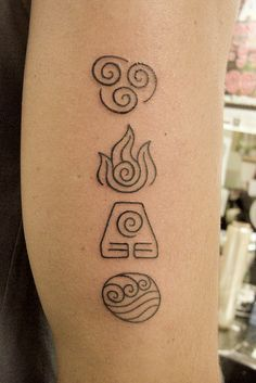 May Water cleanse you, May Air teach you, May Fire drive you, May Earth be a foundation for you. I want a fucking avatar tattoo. Erde Tattoo, Simbolos Tattoo, Tattoo Dotwork, Tattoo Photo, Arrow Tattoo, Tatoo Henna, Piercing Tattoo, Back Tattoo, Piercings