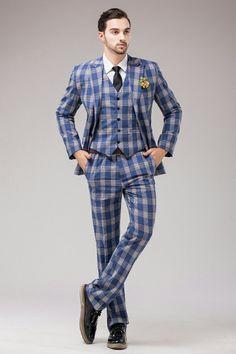 blue tartan suit mens - Google Search | castle | Pinterest | Blue ...