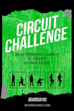 Spice up your workout routine with this circuit challenge. Get your cardio in while doing fun and effective exercises! Fit Board Workouts, Fun Workouts, At Home Workouts, Fitness Workouts, Workout Memes, Workout Guide, Workout Challenge, Fitness Games For Kids, Exercise For Kids