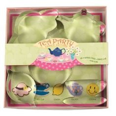 Want to make your tea party a little more tea-riffic? With the help of the Tea Party Cookie Cutter Set, you can make some adorable cookies to impress your guest Tea Party Birthday, Girl Birthday, Birthday Ideas, Teapot Cookies, Tea Riffic, Baking Accessories, Tea Accessories, Mad Hatter Tea, Tea Art