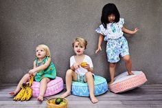 Our macaroon poufs are simply moorish. You can't have just one :-) Ideal poufs for kids rooms, living room, tv room or inside our tipi tent. Batik Prints, Moorish, Poufs, Plush Animals, Storage Baskets, Kids Rooms, Bunting, Shades Of Blue, Pink Grey