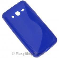 SSYL CUSTODIA SILICONE S-LINE COVER CASE SAMSUNG GALAXY CORE 2 DUAL SIM G355H BLU BLUE NEW NUOVA - SU WWW.MAXYSHOPPOWER.COM