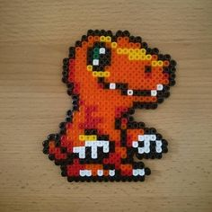 Agumon Digimon hama beads by Jenny Specht