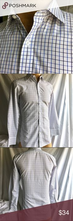BONOBOS COTTON CHECK DRESS SHIRT LIKE NEW BONOBOS blue and white plaid dress shirt is a soft croon fabric.               Shirt is a perfect blend of conservative understatement with style and polish!        No stains, holes, rips or smells. Bonobos Shirts Dress Shirts