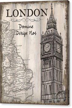 16x20 Wrapped Canvas only $70! #fineart #art #artwork #vintage #London #BigBen
