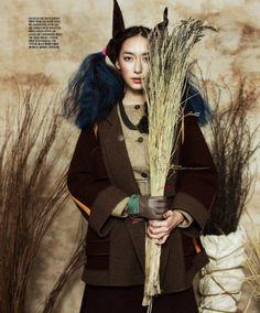 Rising Sun Full Moon   Ji Hyun Jeong   Kim Youngjun #photography   Singles Korea January 2012