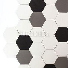 Hexagon wit 142x164 hexagonaal zeshoekig hexagontegel bestel je eenvoudig bij Tegels in Huis Home Deco, Toilet, New Homes, Bathroom, House, Inspiration, Washroom, Biblical Inspiration, Flush Toilet