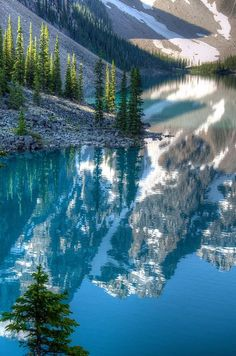 Reflections on Moraine Lake, Banff National Park, Alberta, Canada by D-Niev, via Flickr - on my Bucket List!