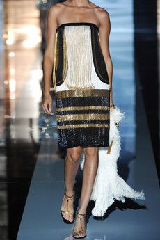 Gucci - Chain embellished sequined silk dress