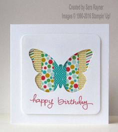 Washi die cut negative card, using supplies from Stampin' Up! www.craftingandstamping.com #stampinup